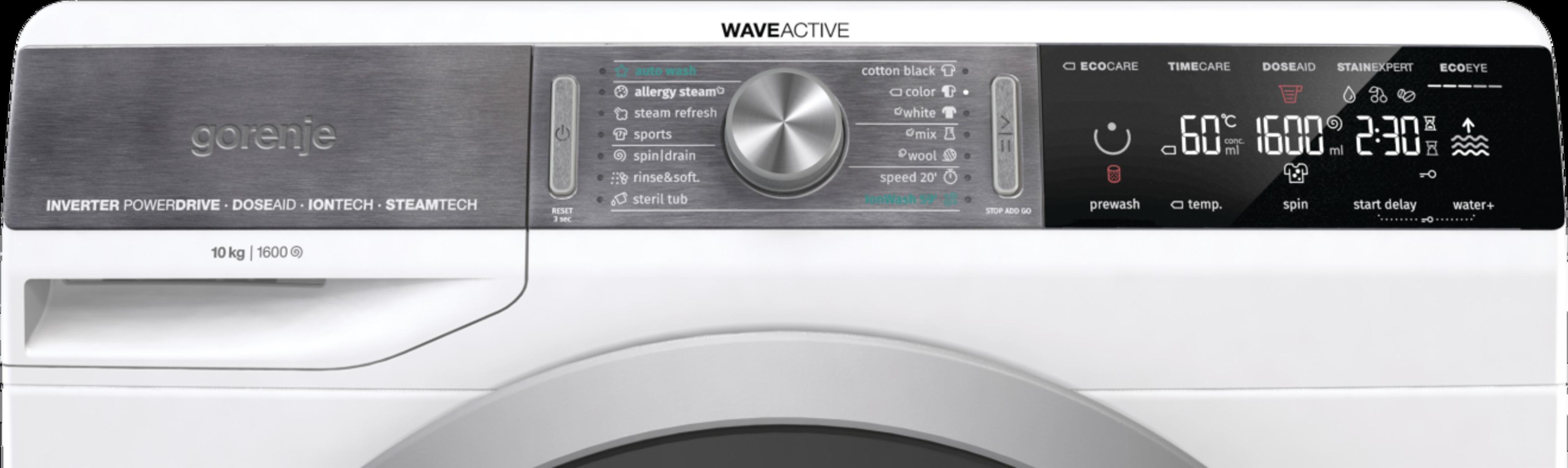 pralni stroj, gorenje waveactive, gorenje WS168LNST