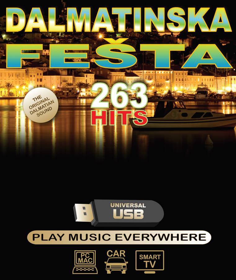 Dodatek za medij DALMATINSKA FEŠTA 263 HITS USB