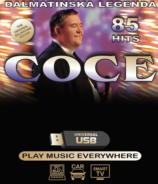 Dodatek za medij COCE V.- DALMATINSKA LEGENDA 85 HITS USB