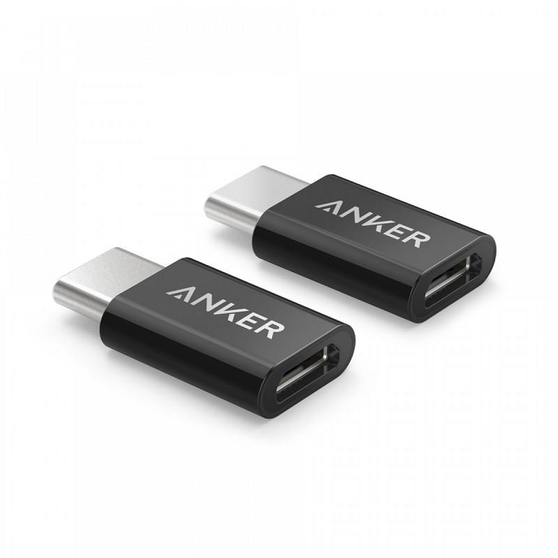 Pribor za telefon USB-C V MIKRO USB ADAPTER ČRN ANKER