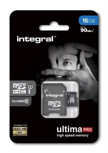 Spominska kartica 16GB MICRO SDHC CLASS10 90MB/S SPOMINSKA INTEGRAL