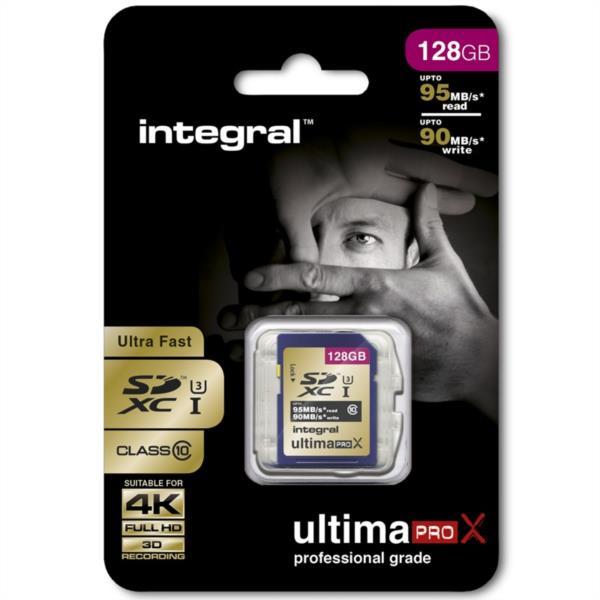 Spominska kartica 128GB SDXC ULTIMAPRO X CLASS10 95MB INTEGRAL