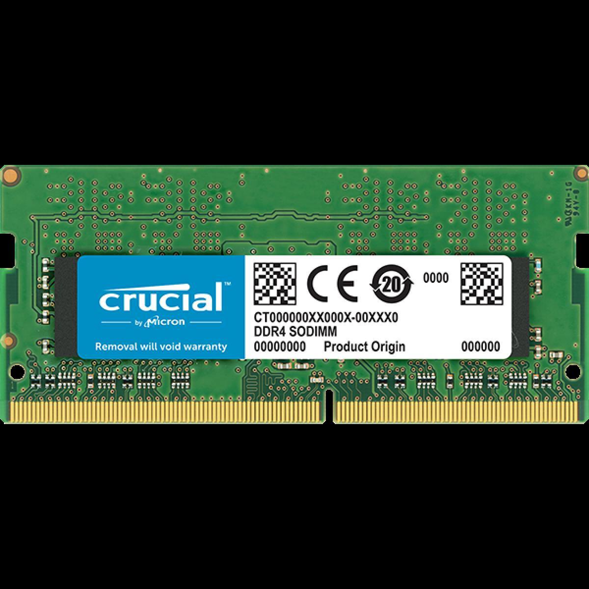 Pomnilniki CRUCIAL 8GB DDR4-2666 SODIMM CL 19