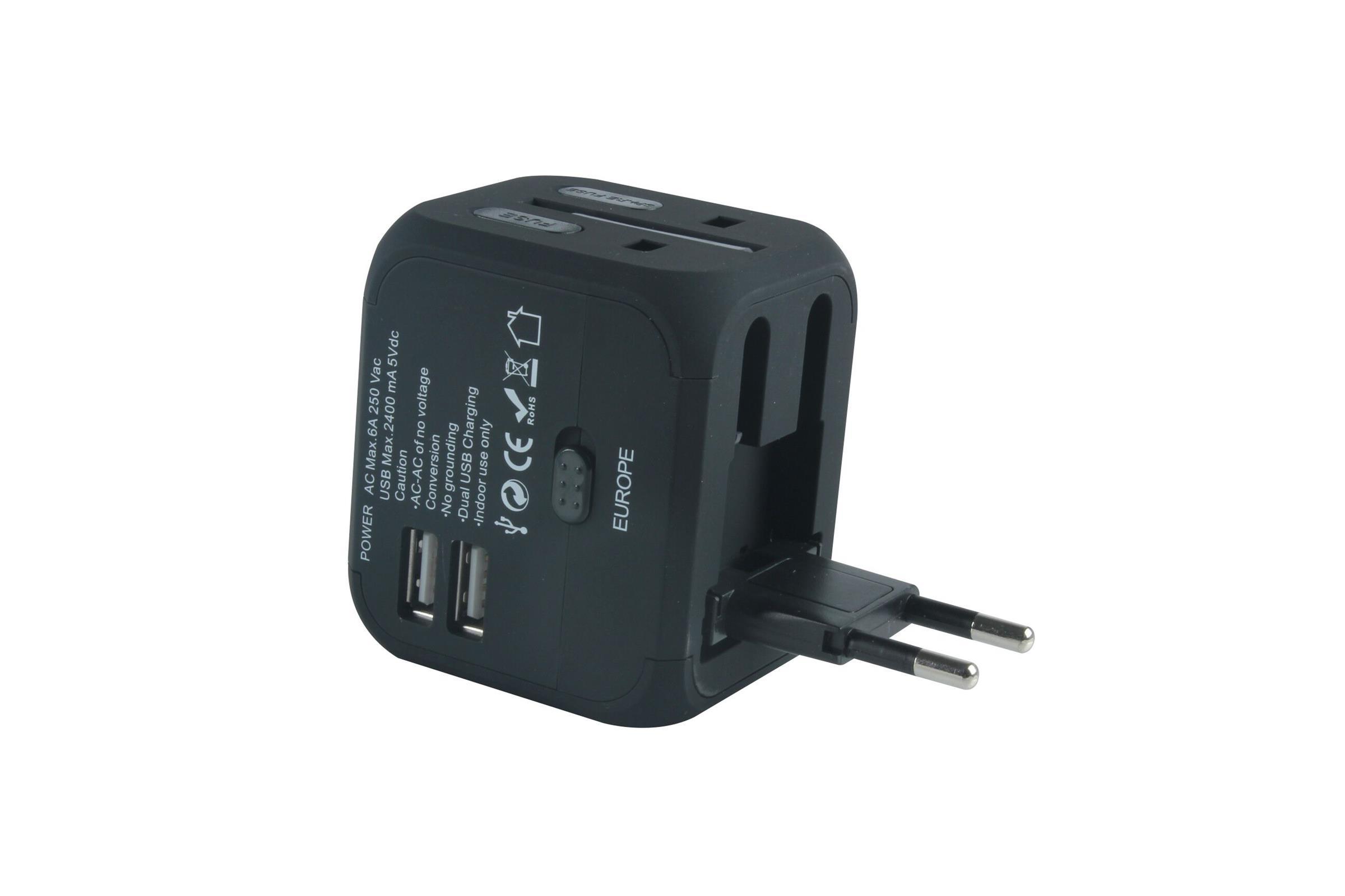 Dodatek n oprema XP1102 POT AD.+2X USB ČRN XPLORE
