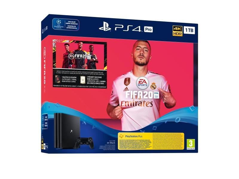 Igralna konzola PS4 PRO 1TB+FIFA 20 PS4