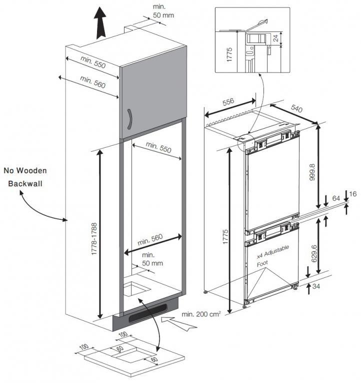 Hladilnik BCN130000 VGR. HLADILNIK BEKO
