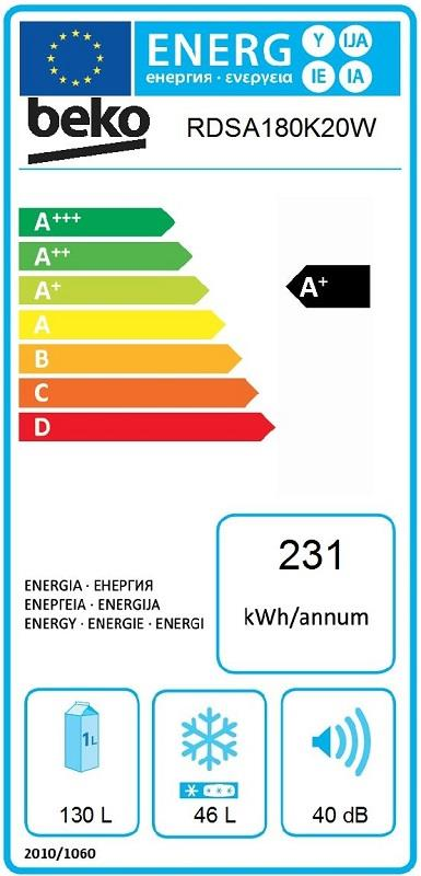 Hladilnik RDSA180K20W HLADILNIK BEKO