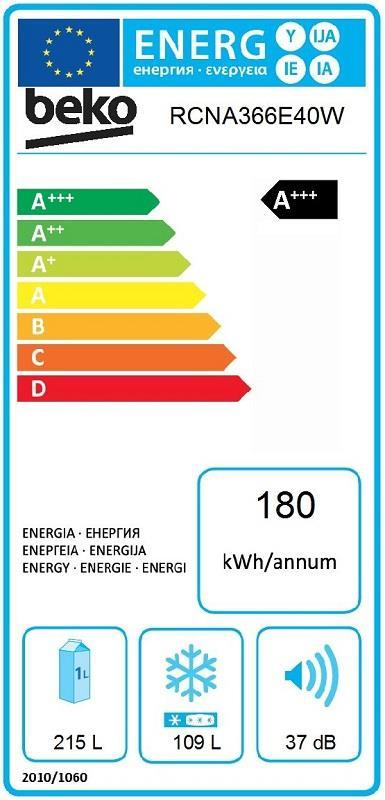Hladilnik RCNA366E40W HLAD. Z ZAMR. BEKO