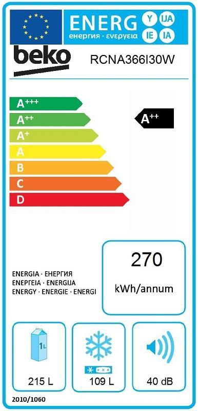 Hladilnik RCNA366I30W HLAD. Z ZAMR. BEKO