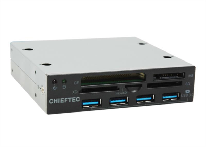 Čitalec spominskih kartic ALL-IN-ONE 4X USB 3.0 PORT CHIEFTEC