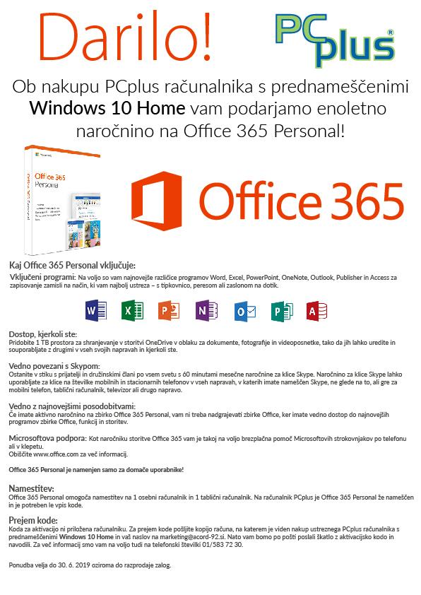 Namizni računalnik PCPLUS E-OFFICE I5-8400 8GB/240GB/W10