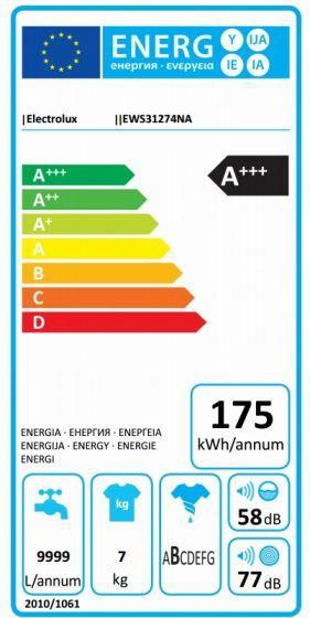 Pralni stroj EWS31274NA PRALNI STROJ ELECTROLUX