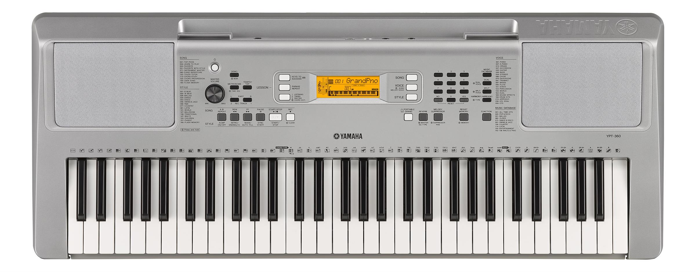 Klaviatura, harmonika in orglica YPT-360 KLAVIATURA YAMAHA