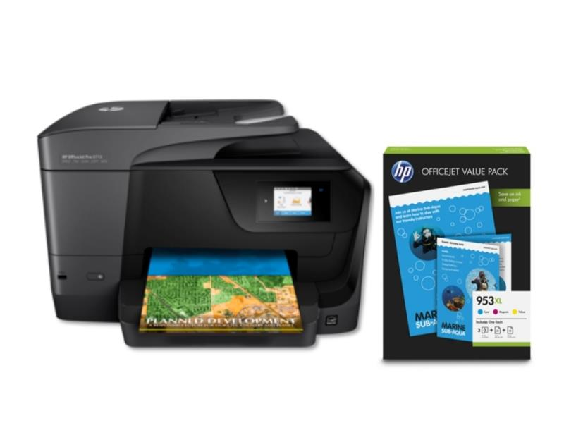 Tiskalnik OFFICEJET PRO 8710 AIO+ HP 953XL CMY OVP PAKET HP