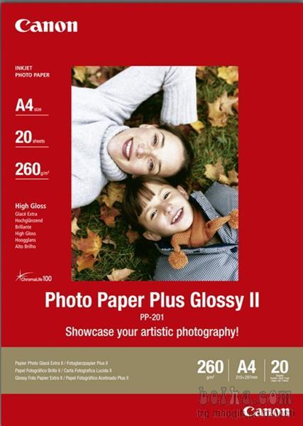 Papir PP201 A4 20L PHOTO PAPER CANON PLUS GLOSSY