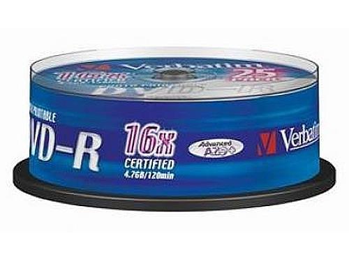 Dvd medij DVD-R 16X 25/1 PRINTABLE VERBATIM