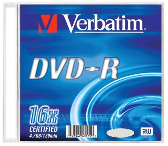 Dvd medij DVD-R 16X PRINTABLE 1/1 VERBATIM