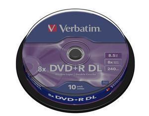 Dvd medij DVD+R DL 8X 8.5GB CAKE10 VERBATIM