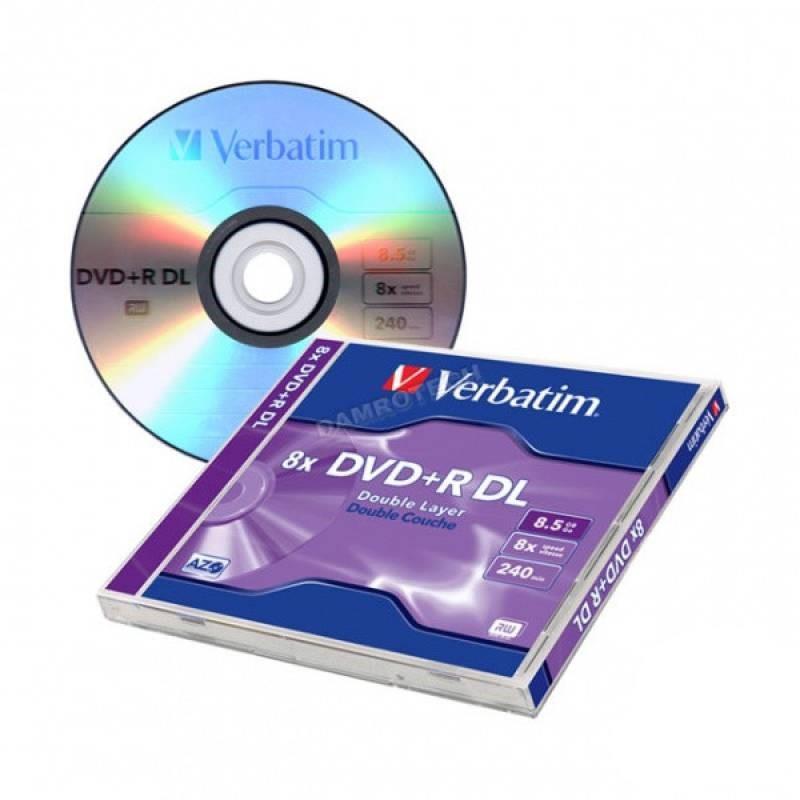 Dvd medij DVD+R 8.5GB DVOSLOJNI 8X VERBATIM