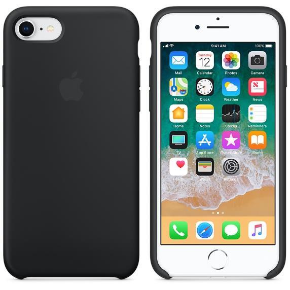 Torbice in ovitki IPHONE 8/7 SILICONE CASE APPLE BLACK