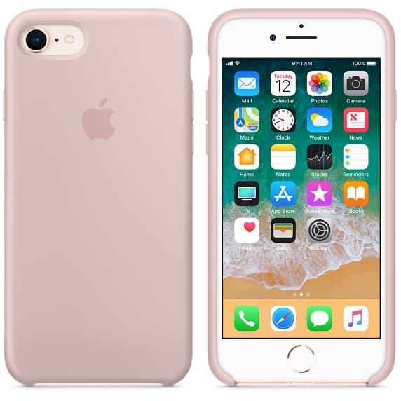 Torbice in ovitki IPHONE 8/7 SILICONE CASE APPLE PINK SAND