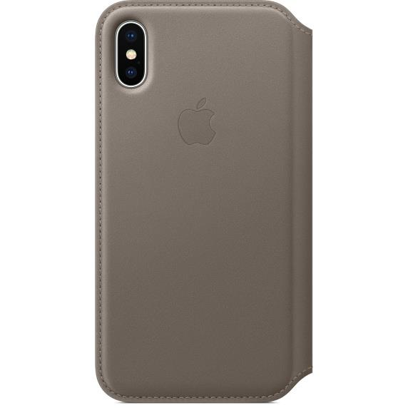Torbice in ovitki IPHONE X LEATHER FOLIO APPLE TAUPE