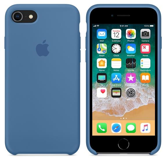Torbice in ovitki APPLE IPHONE 8/7 SILICONE CASE - DENIM BLUE