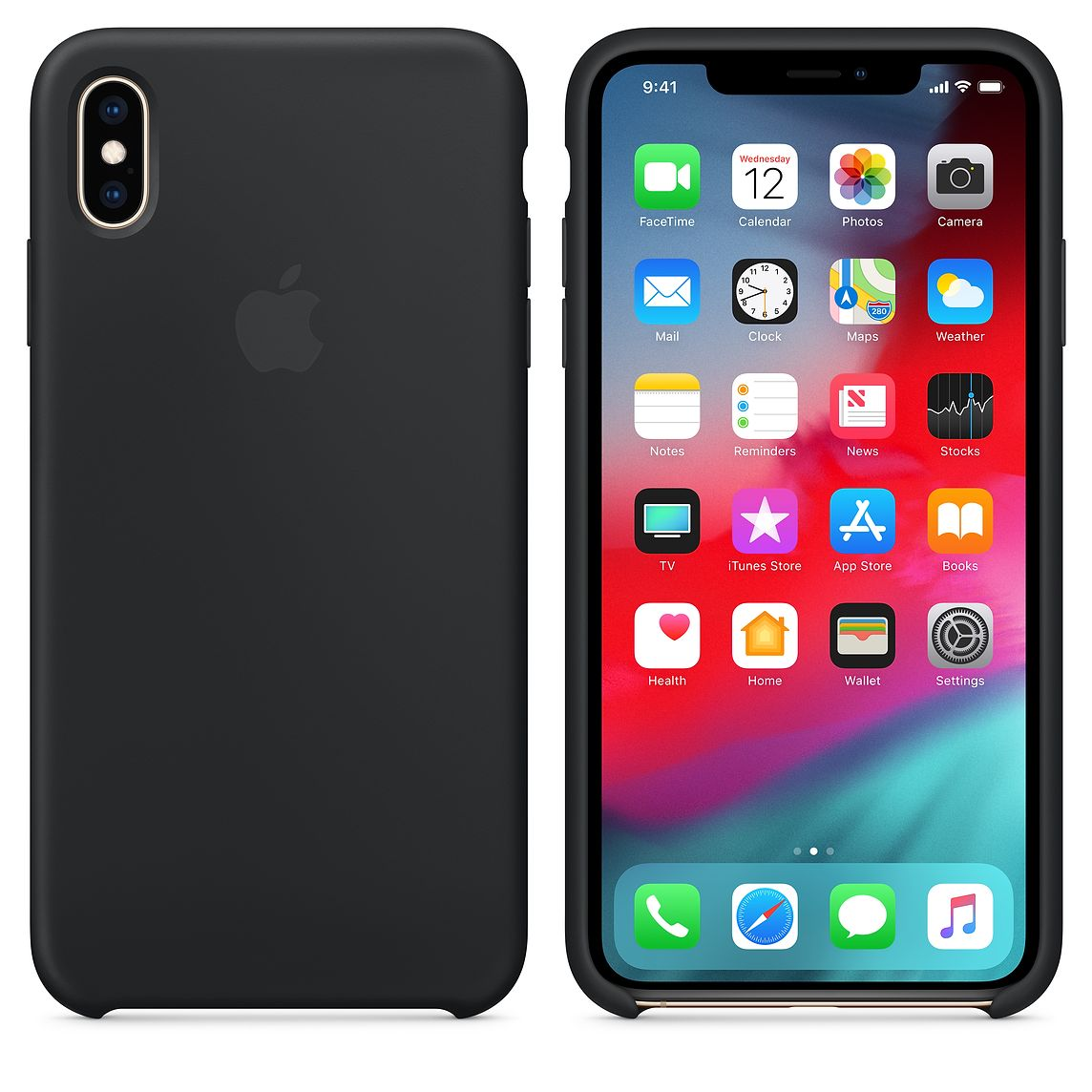 Torbice in ovitki APPLE IPHONE XS MAX SILICONE - BLACK
