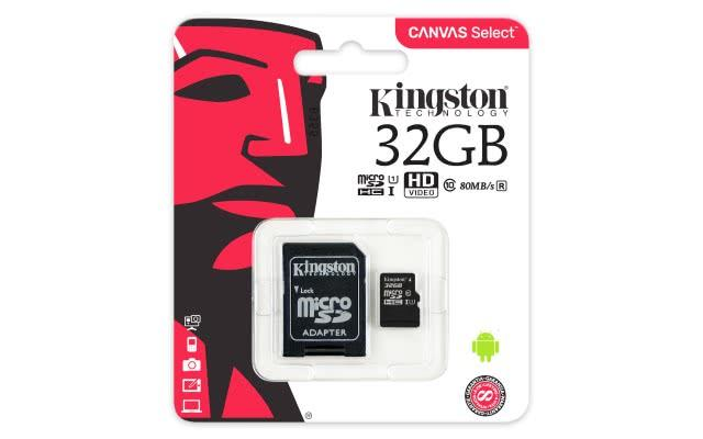 Spominska kartica MICRO SD 32GB 80MB KINGSTON CANVAS