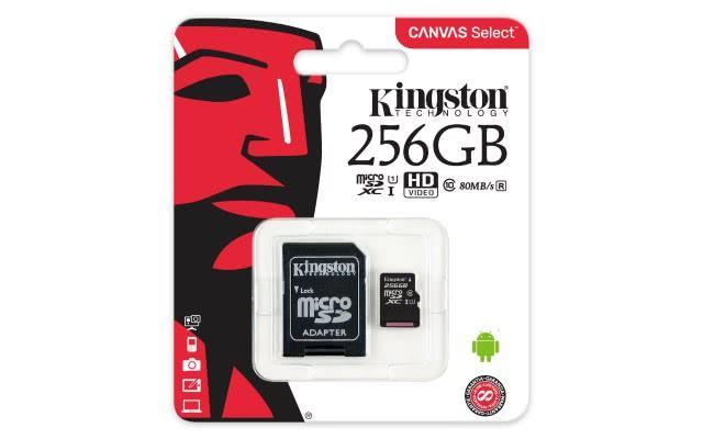 Spominska kartica MICRO SD 256GB 80MB KINGSTON CANVAS