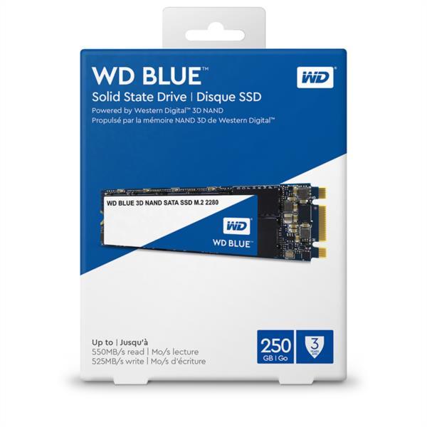 Trdi disk WD 250GB 3D SSD BLUE M.2 2280 SATA