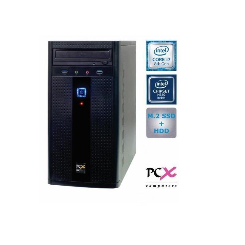 Namizni računalnik PCX EXAM I7-8700/16GB/ SSD240+1TB/HD630