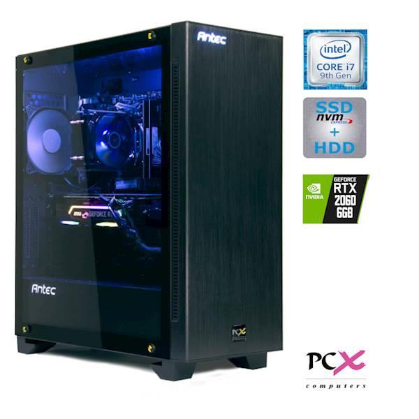 Namizni računalnik PCX EXIES E1 I7-9700K 16GB/500GB+2TB/RTX2060