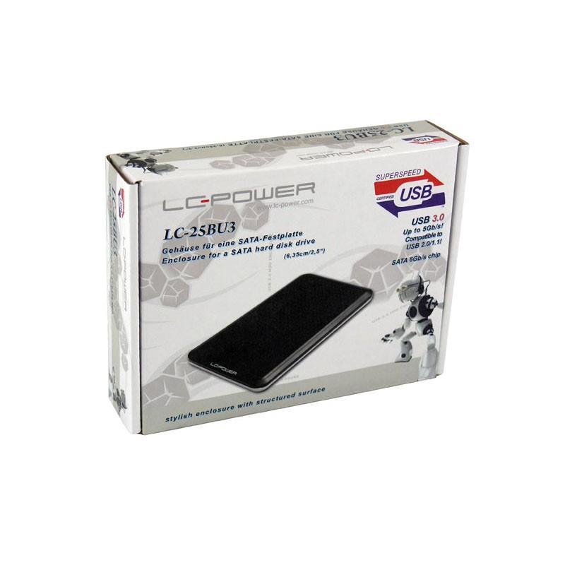 Racunalniska komponenta USB3.0 6.35CM (2.5) ZUN. LC-POWER ČRNO OHIŠJE