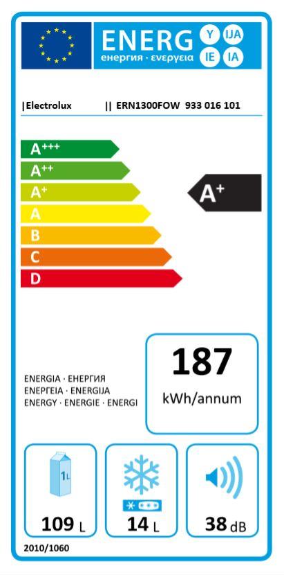 Hladilnik ERN1300FOW HLADILNIK ELECTROLUX